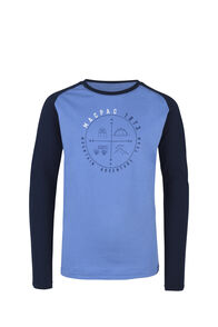 Macpac Compass Organic Long Sleeve Tee — Kids', Riviera, hi-res