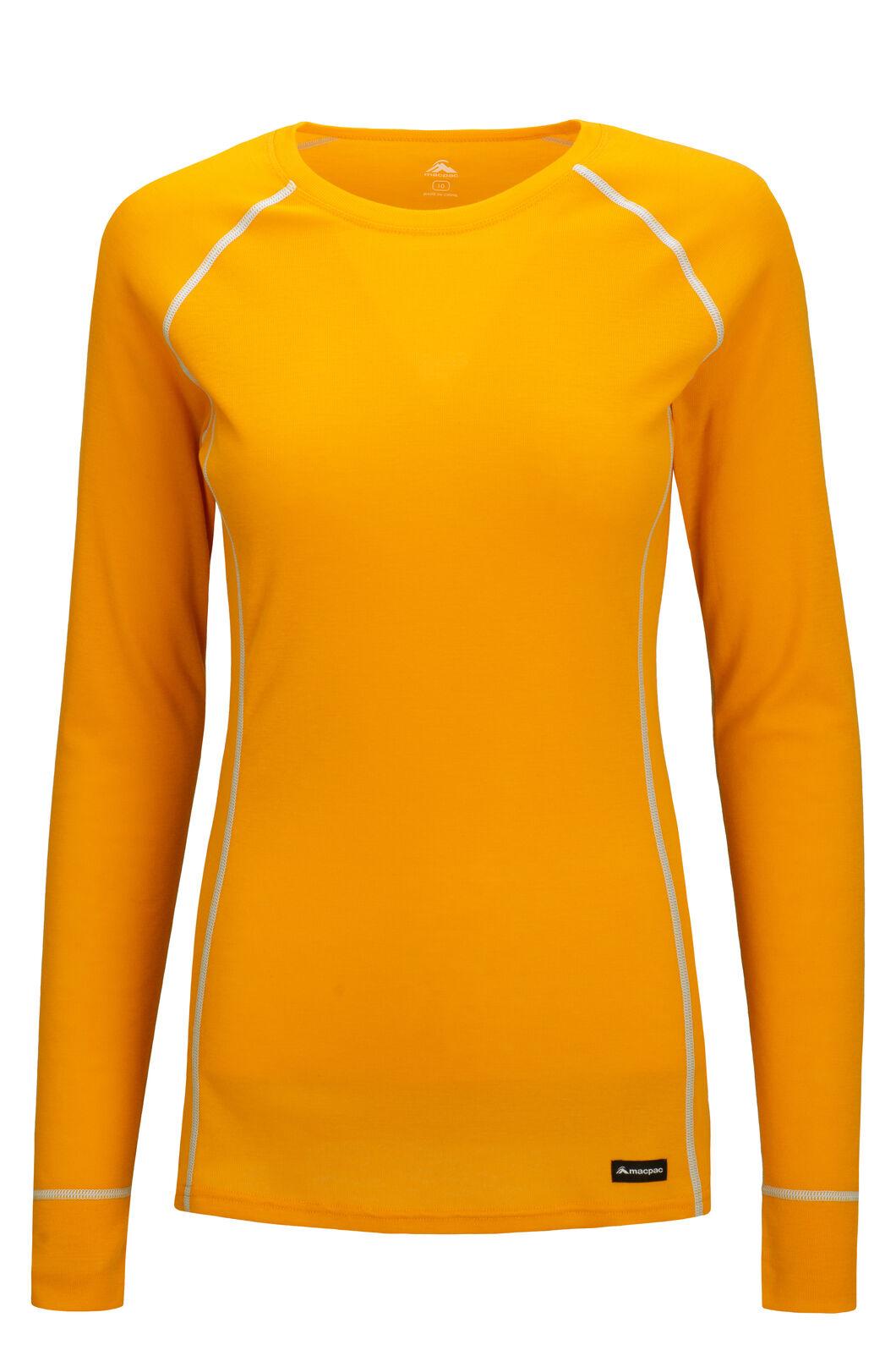 Macpac Geothermal Long Sleeve Top — Women's, Cadmium Yellow, hi-res