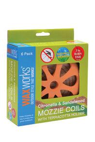 Waxworks 6 Pack Citronella & Sandalwood Coils, None, hi-res