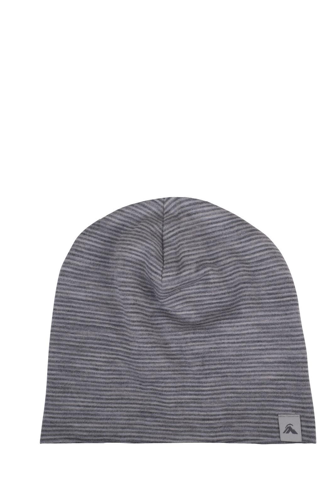 Macpac 150 Merino Beanie — Baby, Light Grey Stripe, hi-res