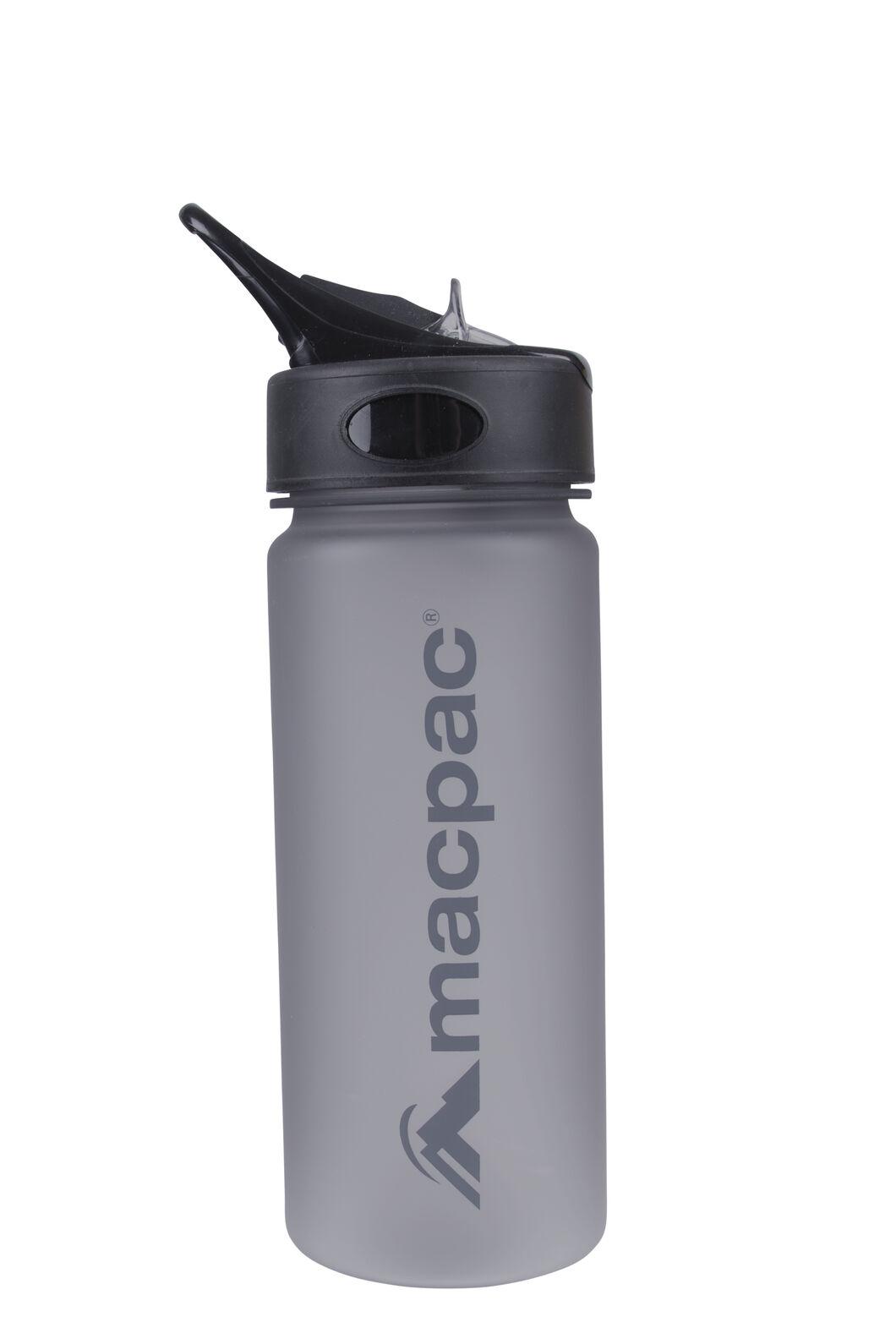 Flip Top Drink Bottle 550mL, Charcoal, hi-res