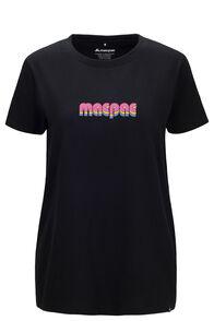 Macpac Women's 80s Short Sleeve Tee, Black, hi-res