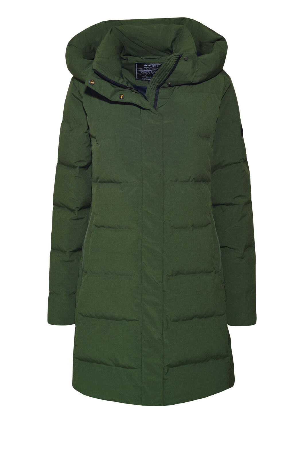 Macpac Narvi Down Coat — Women's, Kombu Green, hi-res