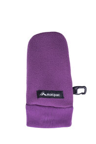 Macpac Fleece Mittens — Kids', Wood Violet, hi-res