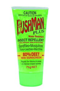Bushman Dry Gel Insect Repellent with Sunscreen 75g, None, hi-res