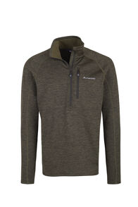 Macpac Fleece Half Zip - Men's, Peat, hi-res