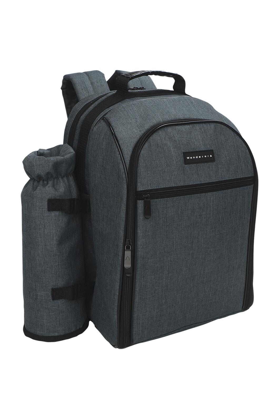 Wanderer Picnic Backpack — 4 Person Set, Grey, hi-res