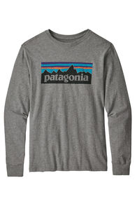 Patagonia L/S Graphic Organic T-Shirt, Grey Heather, hi-res