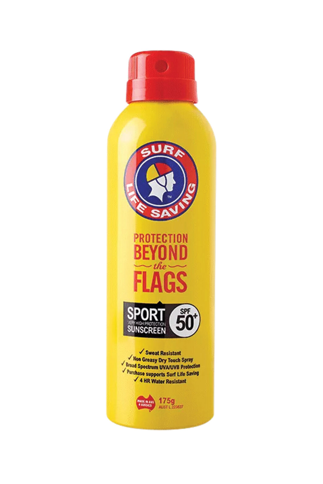 Surf Life Saving 175g SPF50+ Sport Spray Sunscreen, None, hi-res