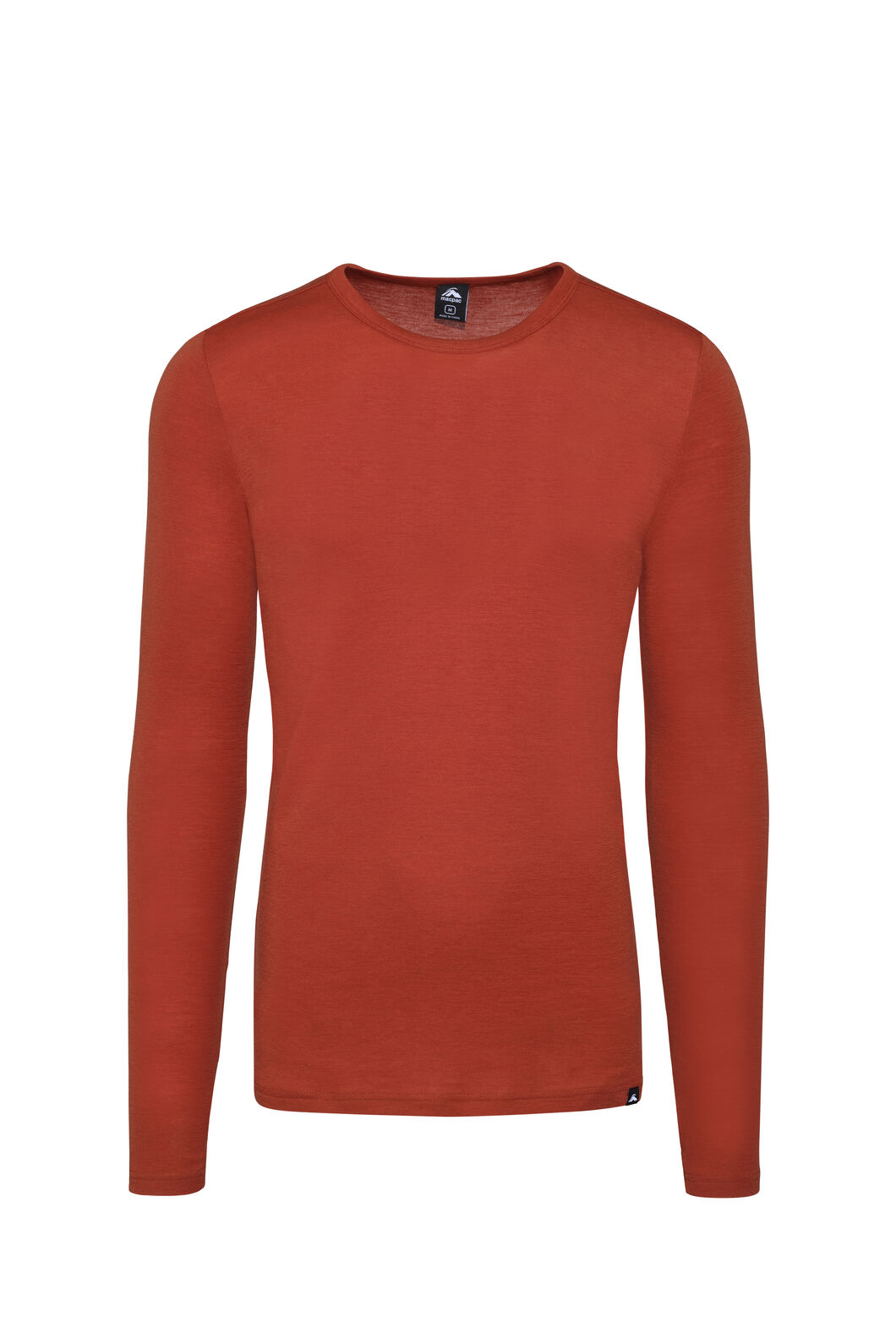 Macpac 220 Merino Long Sleeve Top — Men's, Rooibos Tea, hi-res