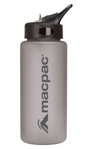 Macpac Flip Top Drink Bottle — 850 mL, Charcoal, hi-res