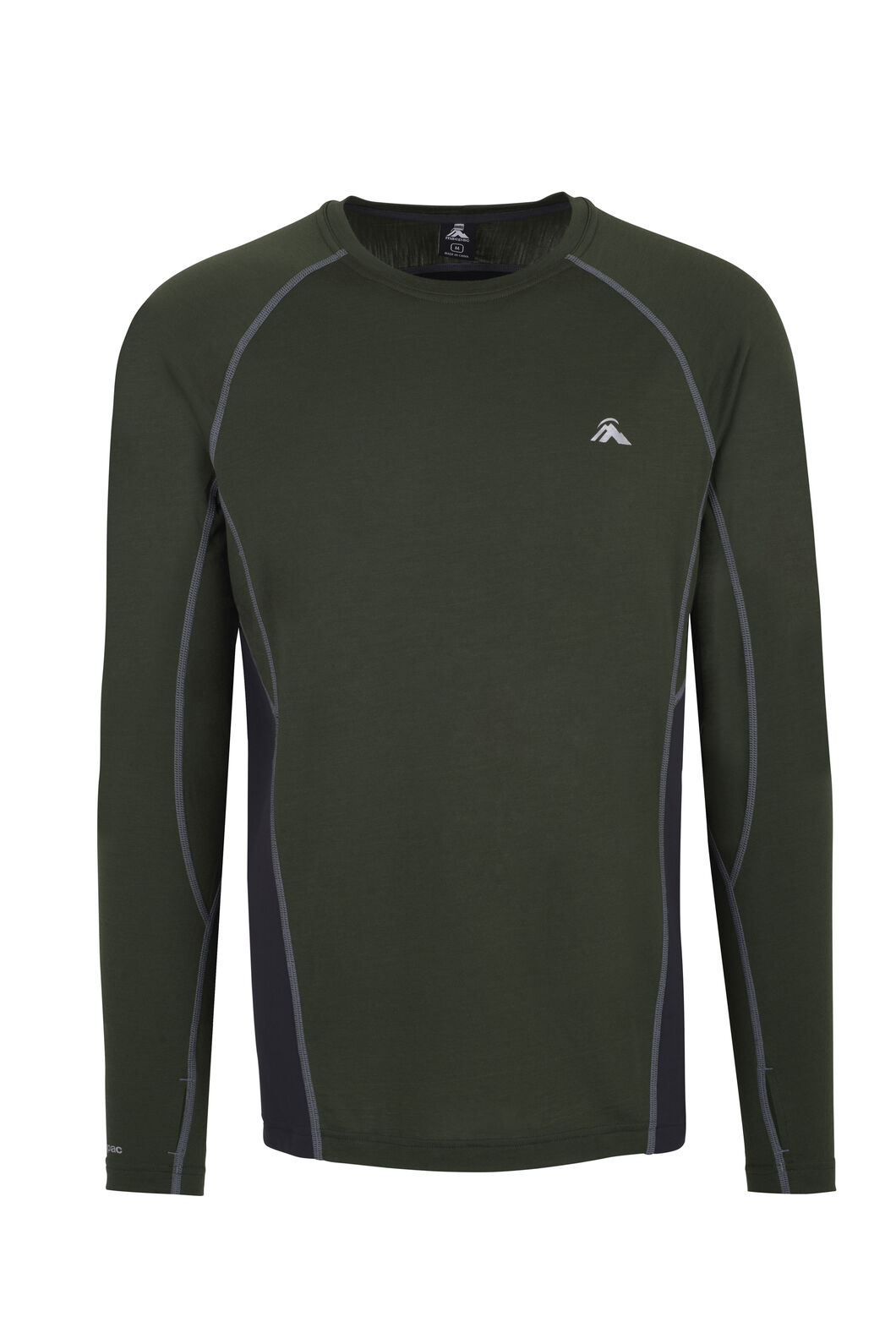 Macpac Casswell Long Sleeve Merino Crew - Men's, Rifle Green, hi-res