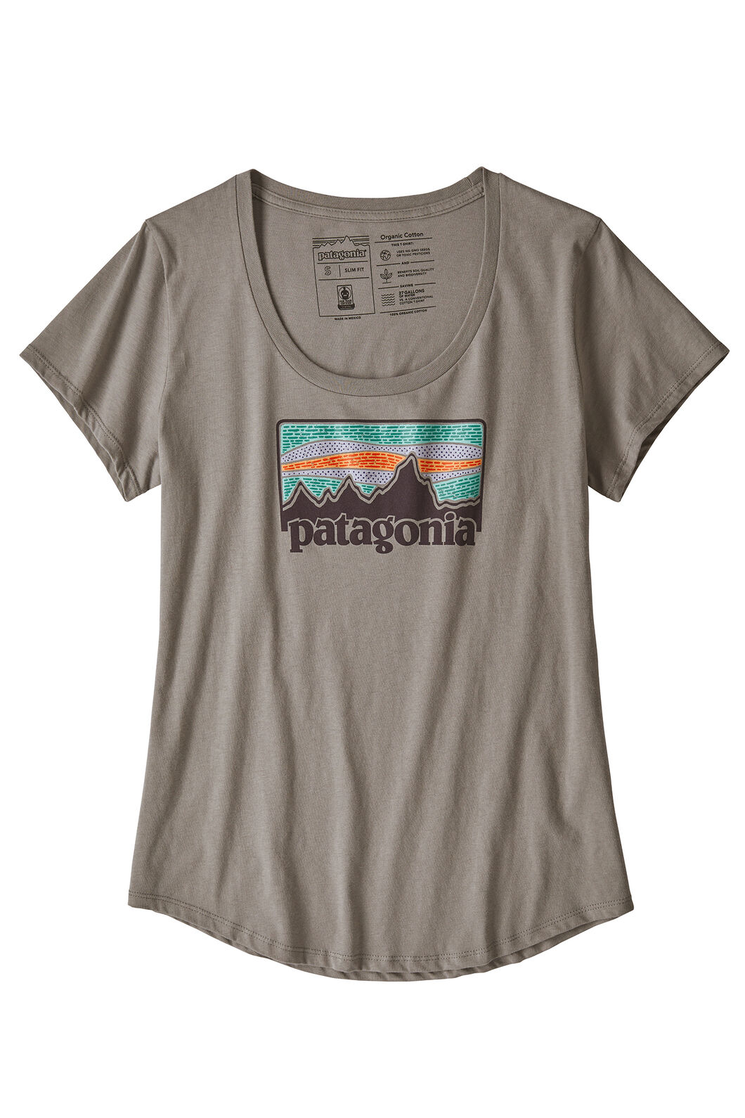 Patagonia W's Solar Rays 73 Tee, FEATHER GREY, hi-res