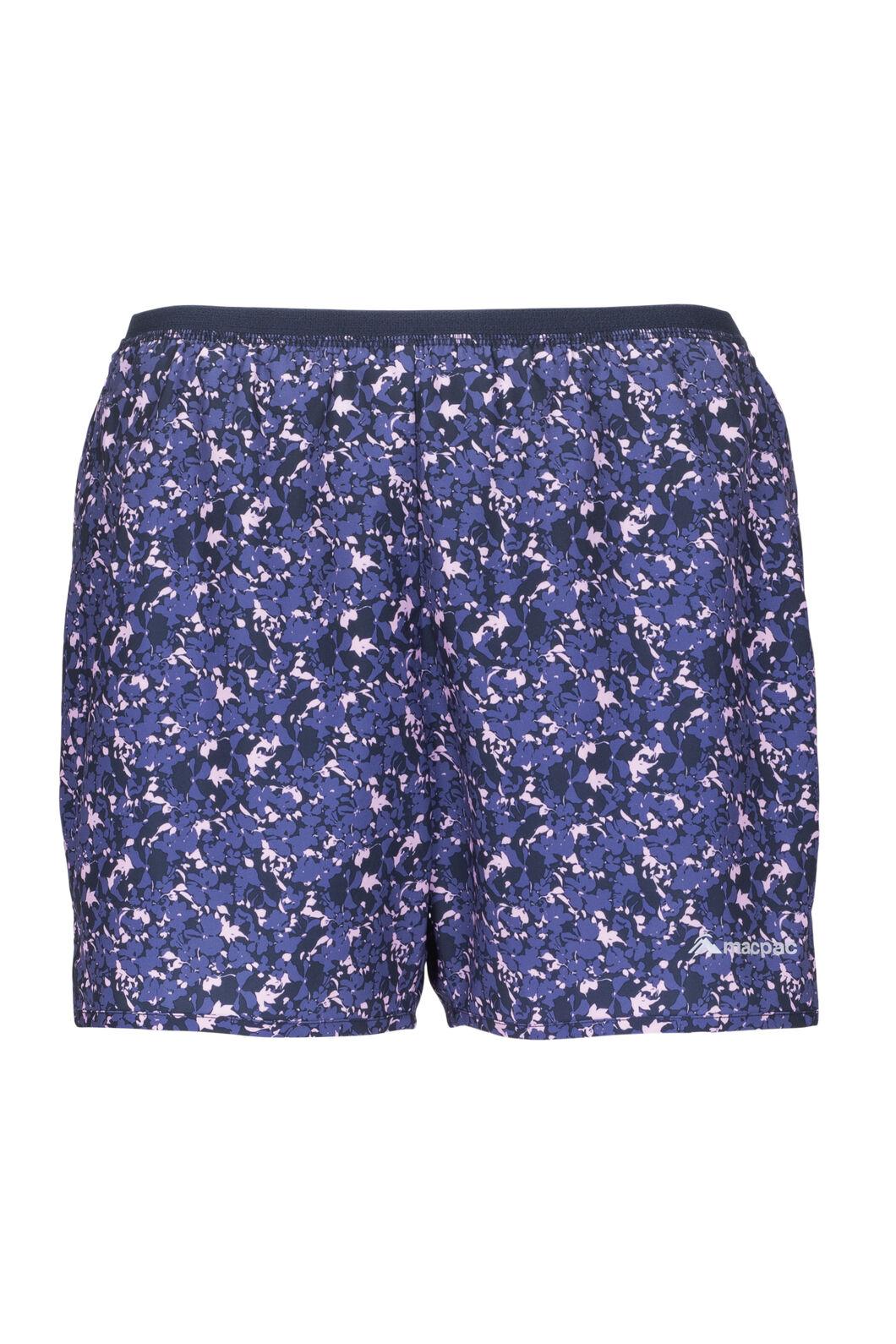 Macpac Caples Trail Shorts — Women's, Orchid Print, hi-res