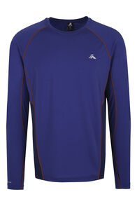 Macpac Casswell Long Sleeve Merino Crew - Men's, Sodalite Blue, hi-res