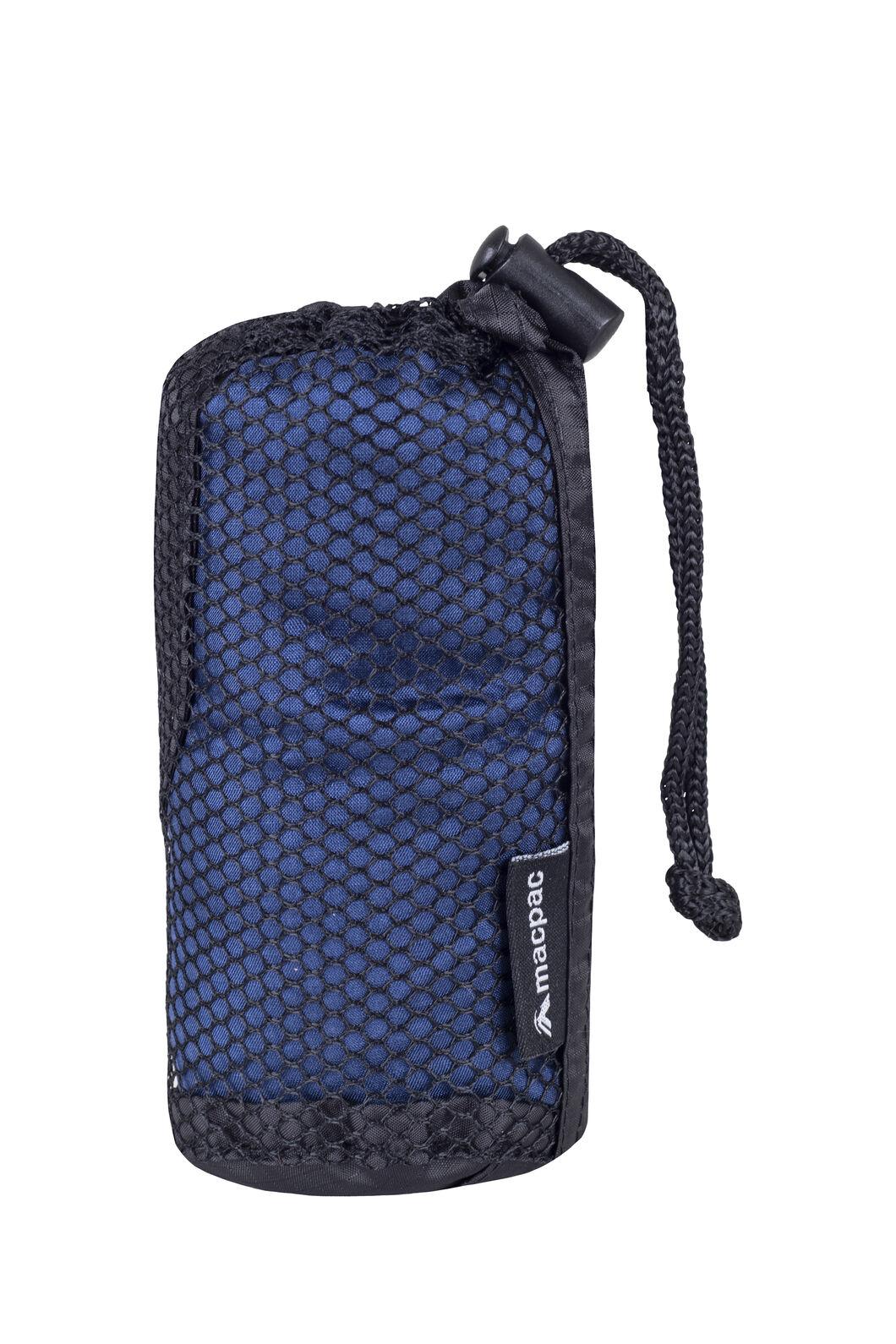 Macpac Silk Sleeping Bag Liner — Standard, Navy, hi-res
