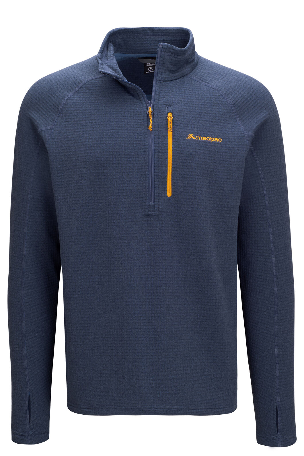 Macpac Ion Polartec® Fleece Half Zip Pullover — Men's, Ensign Blue, hi-res