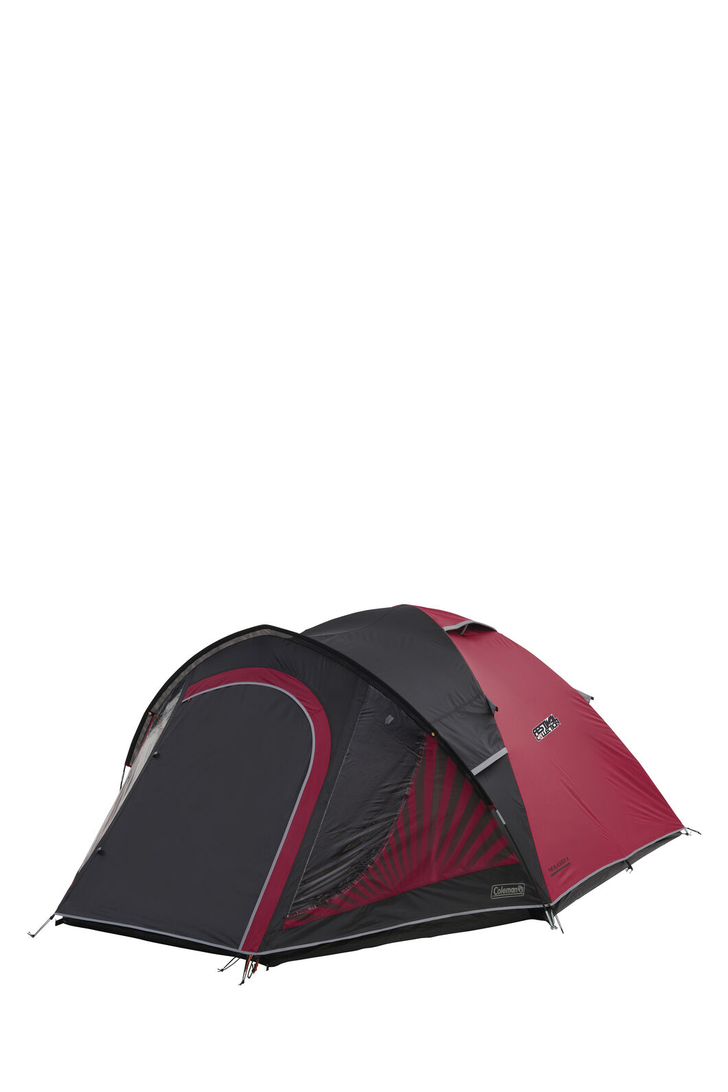 Coleman Blackout 4 Person Darkroom Tent, Black/Red, hi-res
