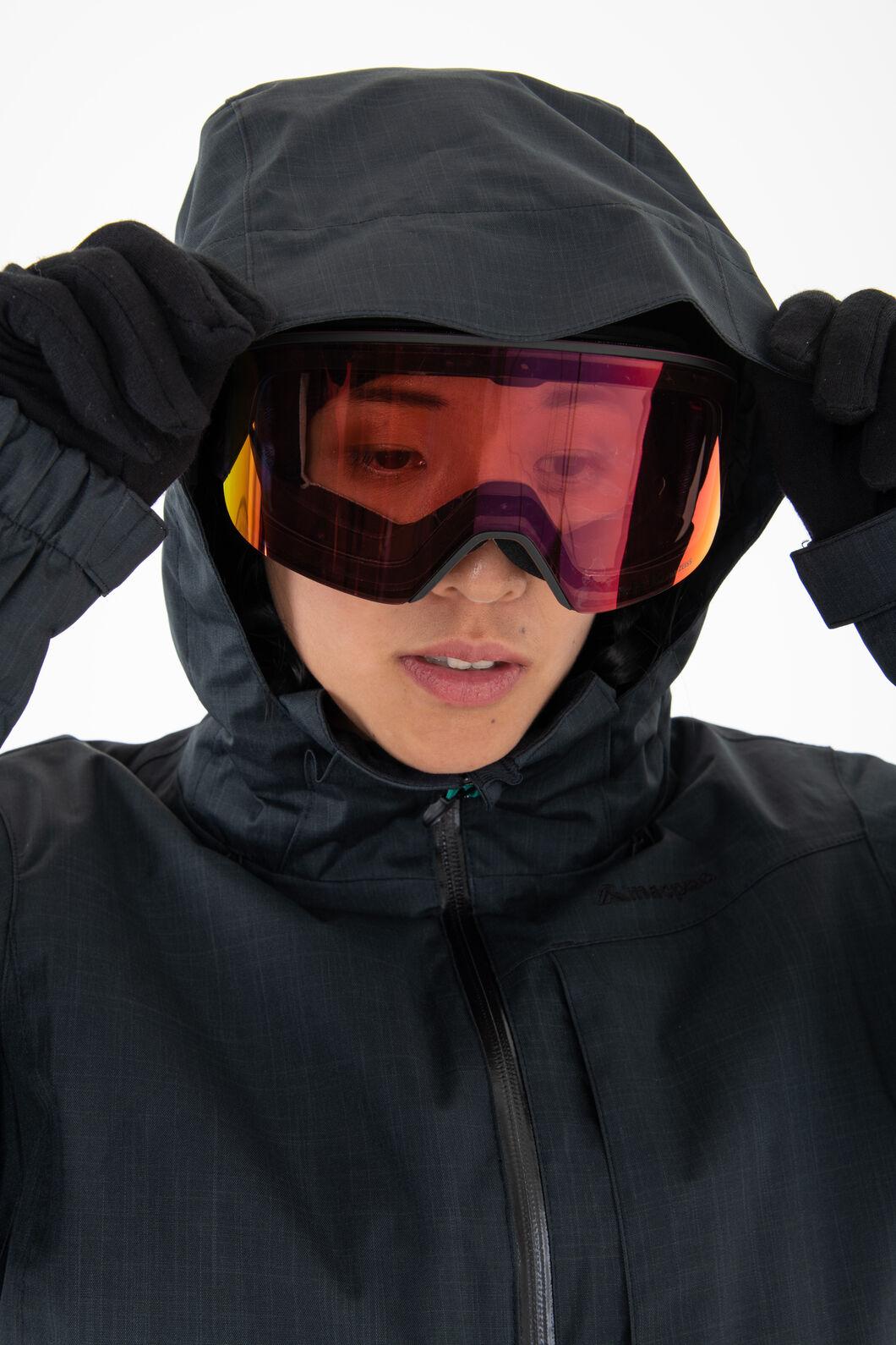 Macpac Powder Reflex™ Ski Jacket — Women's, Black/Black, hi-res