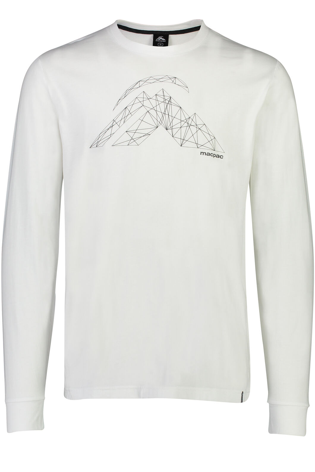 Macpac String Logo Long Sleeve Tee - Men's, White, hi-res