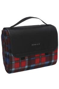 Wanderer Fleece Picnic Rug — 1.5 x 2 m, Red Check, hi-res