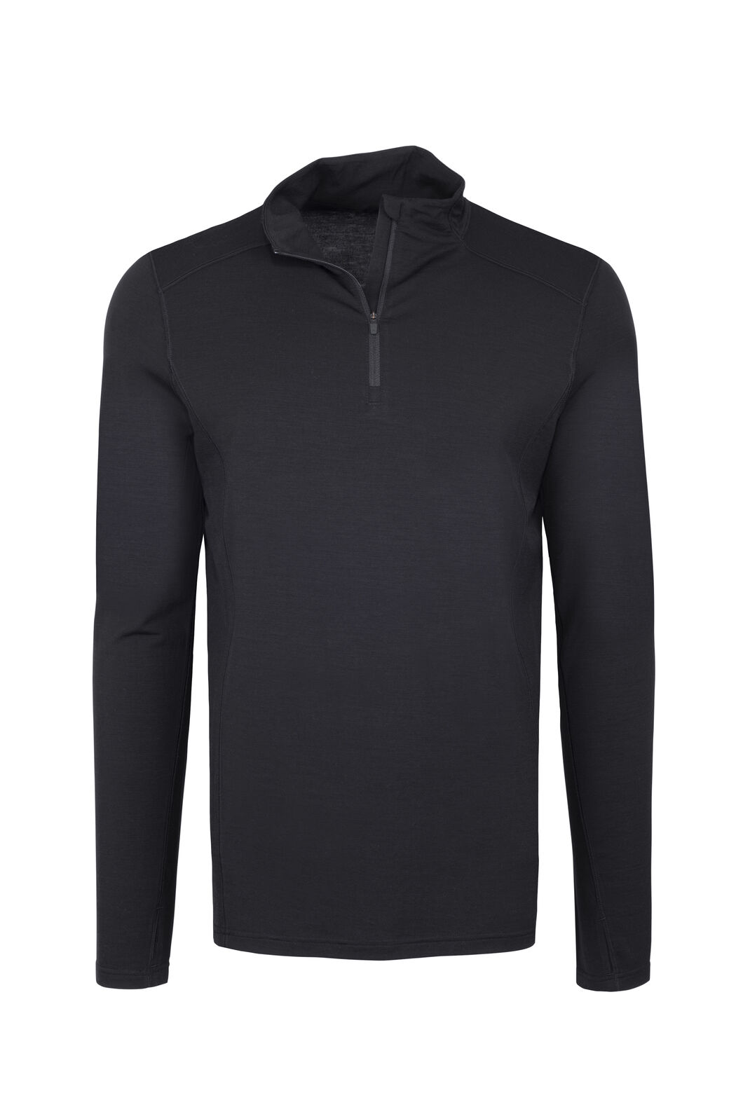 Macpac Men's Merino 180 Half Zip Pullover, Black, hi-res