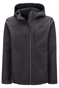 Macpac Chord Softshell Hooded Jacket — Men's, Black, hi-res