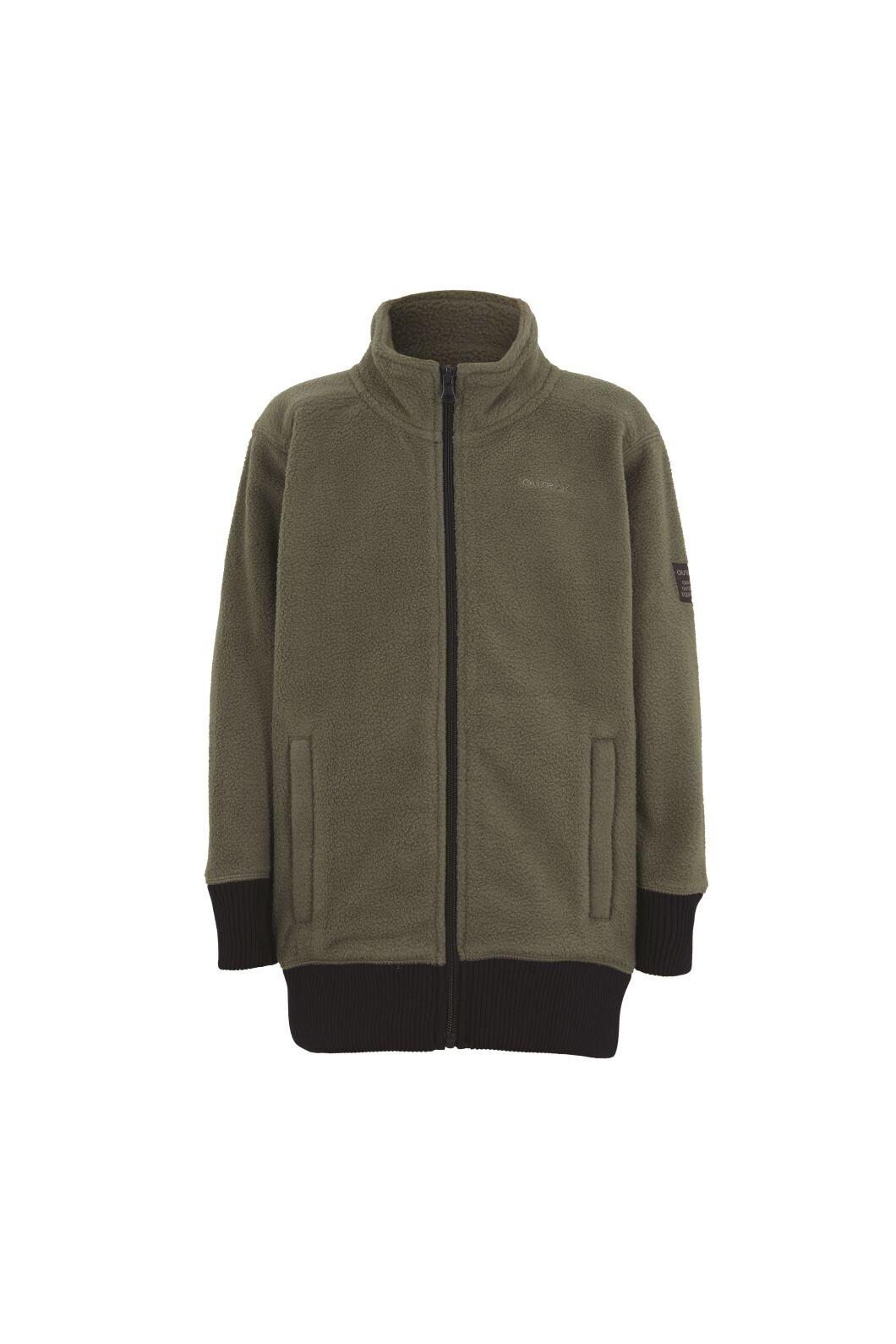 Outrak Kids' Yak Fleece Jacket, Green, hi-res