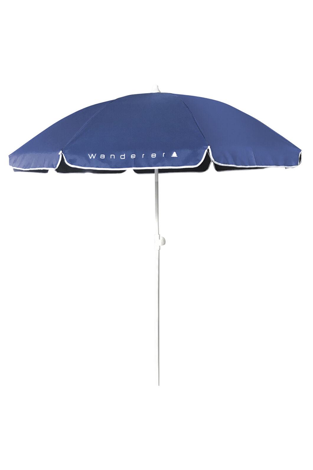 Wanderer Essentials Beach Umbrella — 1.8 m, Navy, hi-res