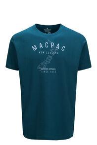 Macpac Outdoor Apparel Fairtrade Organic Cotton Tee — Men's, Reflecting Pond, hi-res