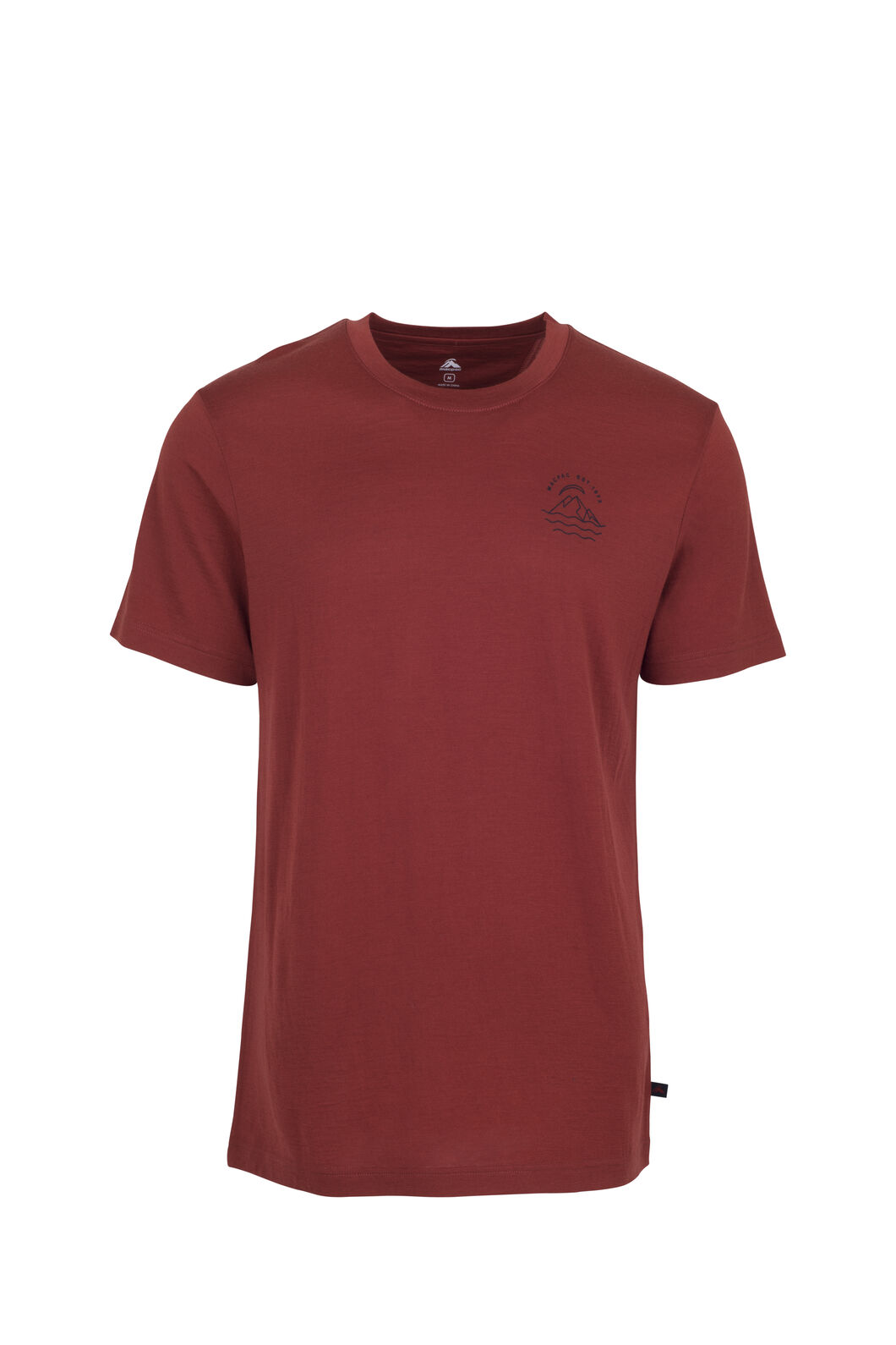 Macpac RHS Merino 180 Tee - Men's, Red Ochre, hi-res