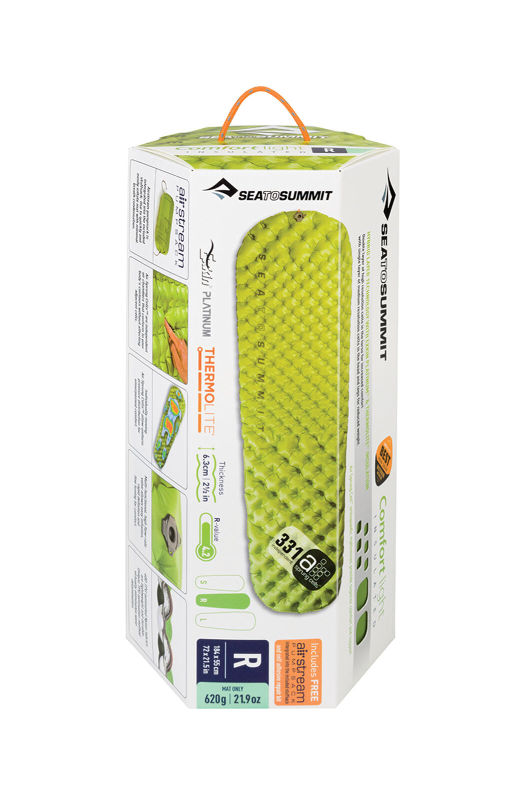Sea to Summit Comfort Light Insulated Mat, None, hi-res