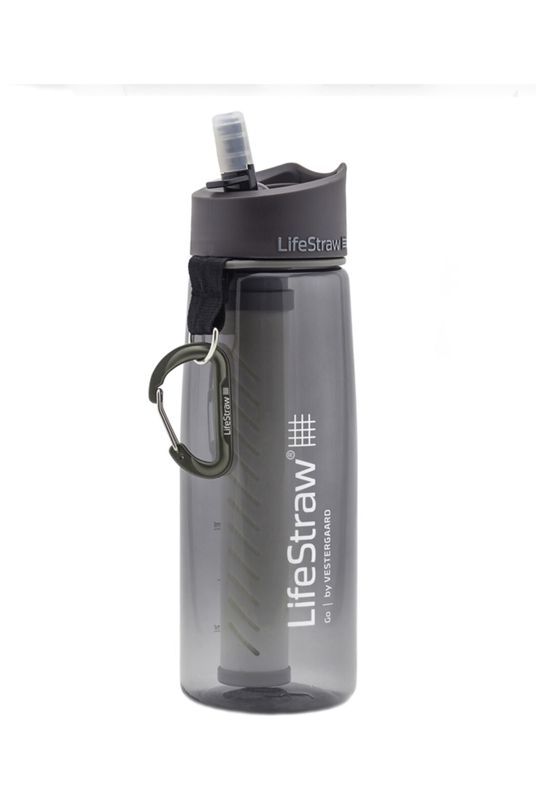 LifeStraw Go 2-Stage Filtration Water Bottle, Grey, hi-res