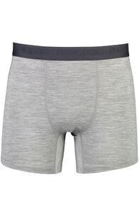 Macpac 180 Merino Boxers — Men's, Grey Marle/Black, hi-res