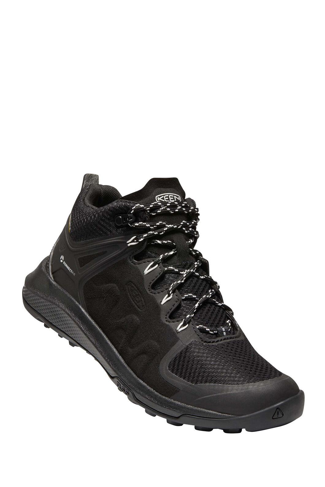 KEEN Explore WP Hiking Boots — Women's, Black/Star White, hi-res