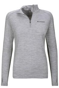 Macpac Kauri 280 Merino Pullover — Women's, Light Grey Marle, hi-res