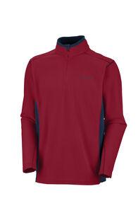 Columbia Kalmath Range II Half Zip Fleece Pullover - Men's, Red Element/Collegiate Navy, hi-res