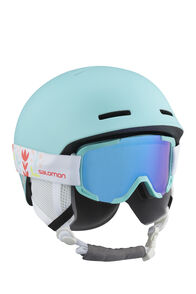 Salomon Player Combo JR Helmet — Kids', Aruba Aru Blue/White, hi-res