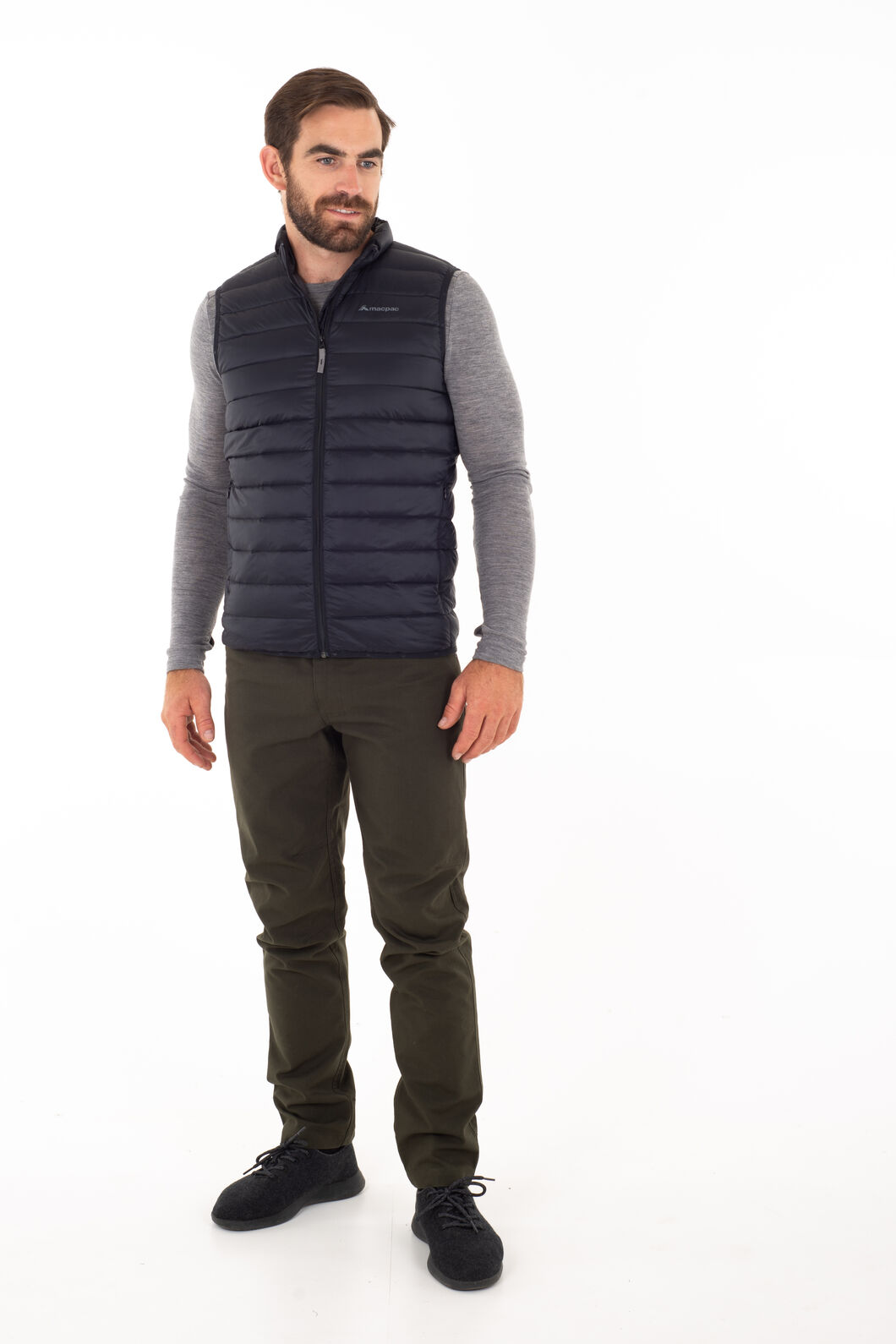 Macpac Uber Light Down Vest - Men's, Beech, hi-res