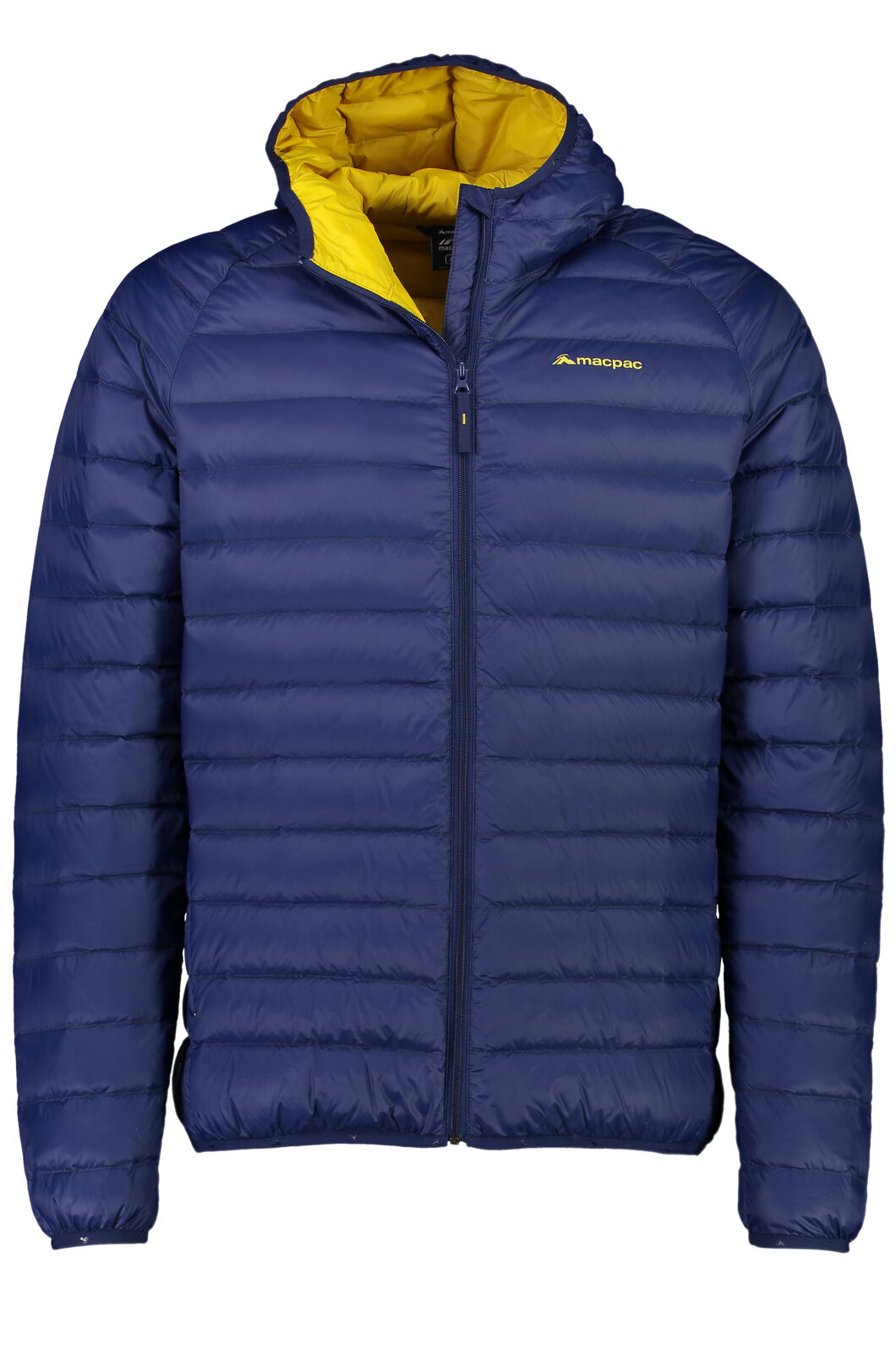 Uber Hooded Down Jacket - Men's, Medieval/Lemon Curry, hi-res