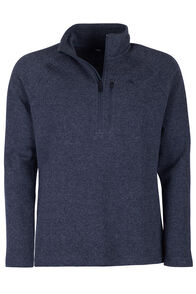 Macpac Guyon Half Zip Pullover - Men's, Navy Melange, hi-res