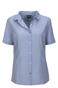 Macpac Eclipse Short Sleeve Shirt — Women's, LIGHT BLUE, hi-res