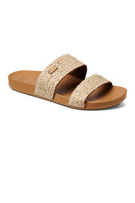 Reef Cushion Vista Braid Slide Sandals — Women's, Natural, hi-res