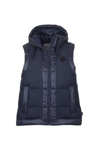 Macpac Prism Hooded Vest - Women's, Salute, hi-res