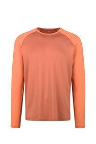 Macpac Eyre Long Sleeve Tee — Men's, Persimmon Orange/Burnt Orange, hi-res