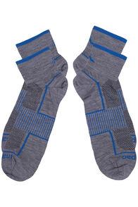 Merino Blend Quarter Socks 2 Pack, Grey Marle, hi-res