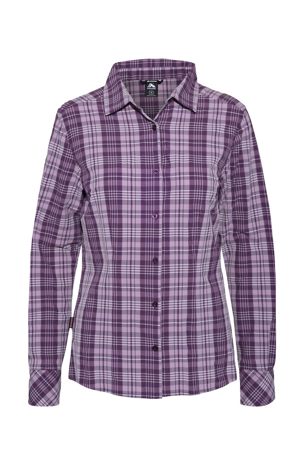 Macpac Eclipse Long Sleeve Shirt — Women's, Blackberry Wine, hi-res