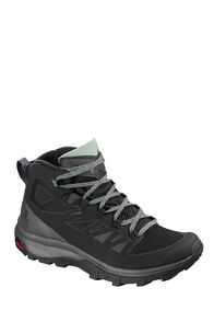 Salomon Outline GTX Hiking Boots - Women's, Black/Magnet/Green Milieu, hi-res
