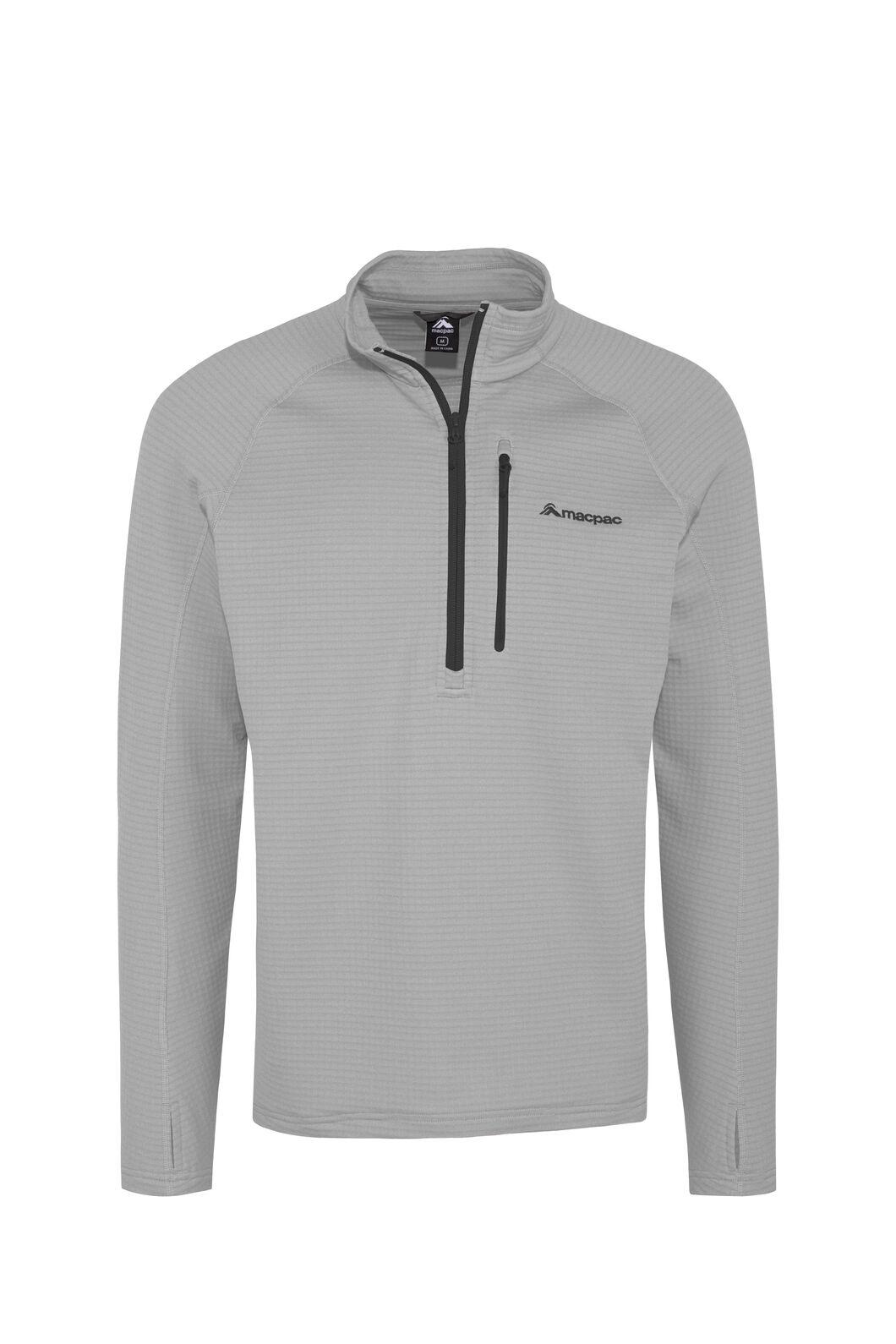 Macpac Ion Polartec® Fleece Half Zip Pullover — Men's, Alloy, hi-res