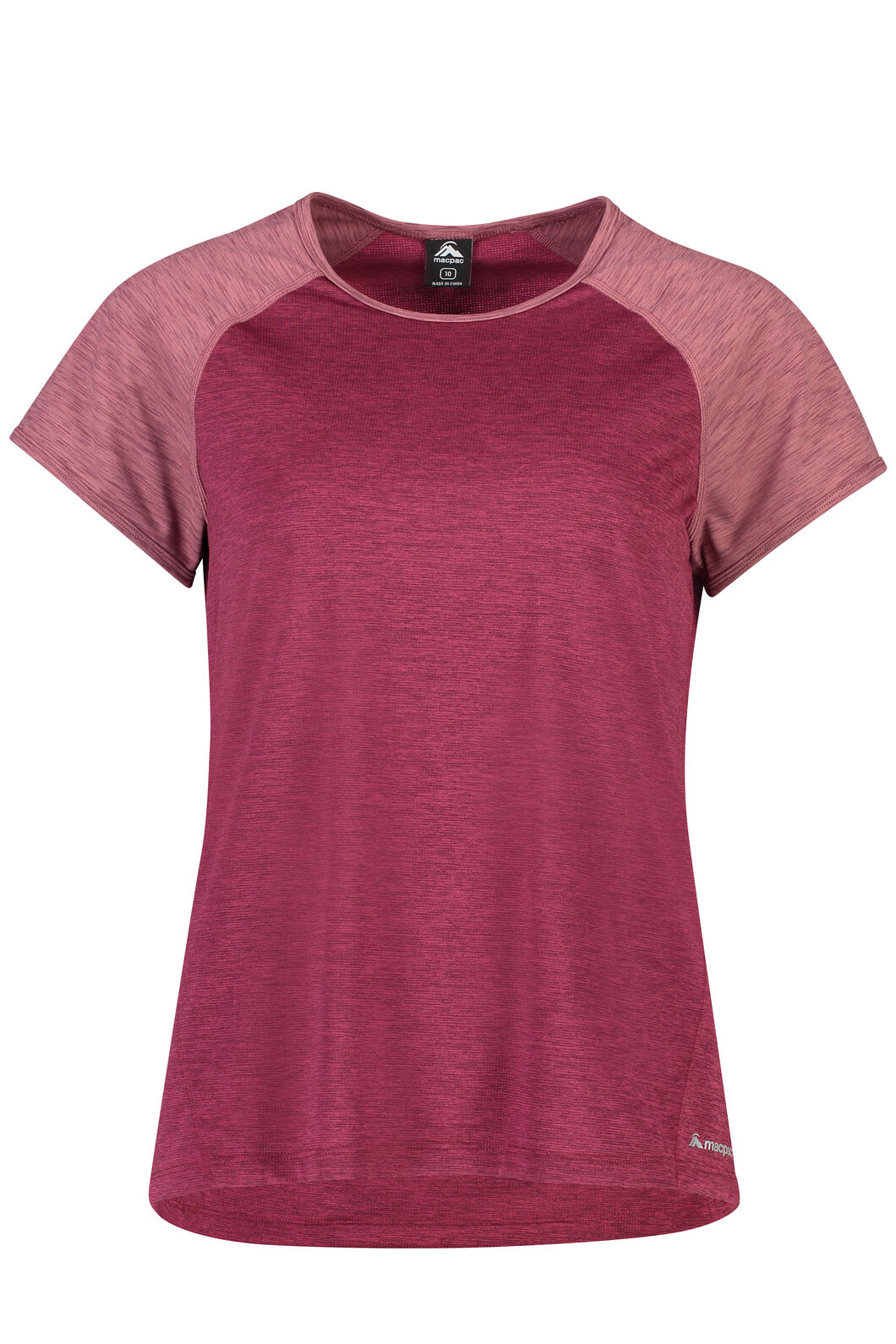 Macpac Take a Hike Short Sleeve Top - Women's, Beet Red, hi-res